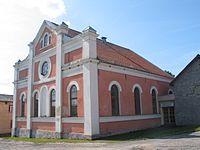 Former synagogue in Sabile.JPG