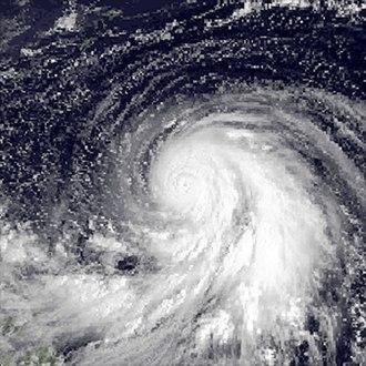 Typhoon Forrest (1983) - Image: Forrest Sept 23 1983 0000Z