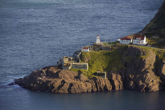 Fort Amherst, St. John's - Image: Fort Amherst, view from Signal Hill