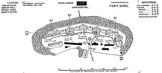 Fort Wool - Fort Wool in 1921