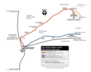Fort Worth Metro Area Rail Transit Services
