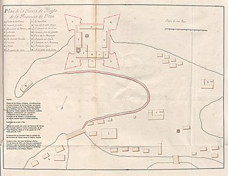 Iloilo City - The Plan of the Fort of Iloilo in 1738, formerly called Fortificación de Nuestra Señora del Rosario en el Puerto de Yloylo, Provincia de Oton, in the early 1700s.