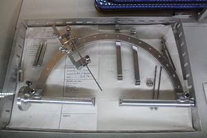 Stereotactic surgery - Frame for Stereotactic Thalamotomy on display at the Glenside Museum
