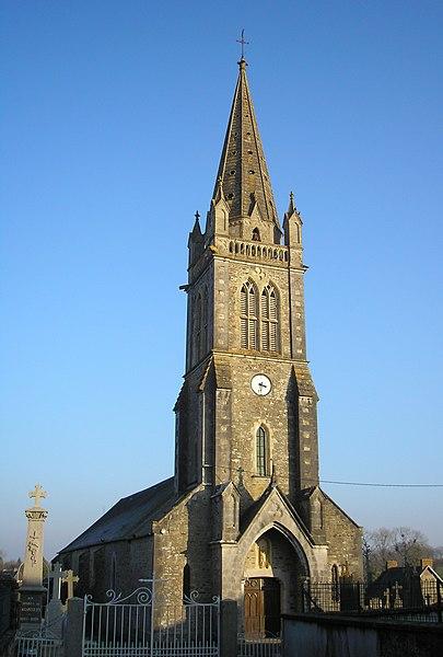 Carantilly (Normandie, France). L'église Notre-Dame.