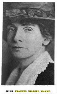 Frances Belford Wayne American journalist