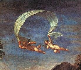Adonis conduit près de Vénus par les Amours