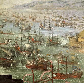 Iberian ship development, 1400–1600 - Defense of Cádiz against the English (detail), by Francisco de Zurbarán.