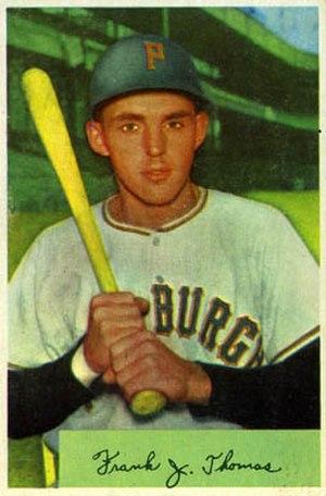 Frank Thomas (outfielder) - Image: Frank Thomas 1954bowman