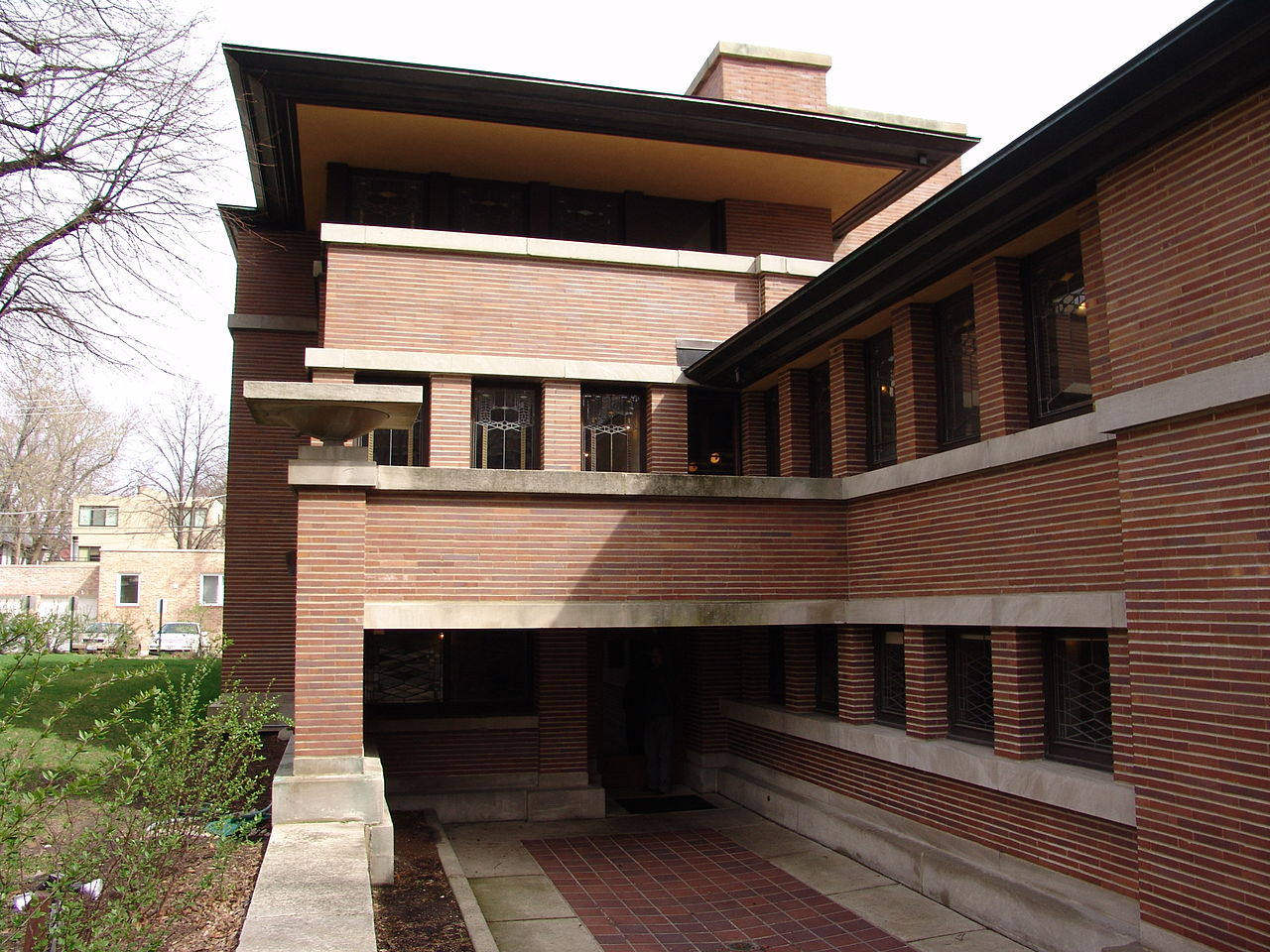 File frank lloyd wright robie house 9 jpg wikipedia for Frank loyd wright house