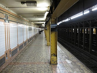 Franklin Street (IRT Broadway–Seventh Avenue Line) - Uptown platform
