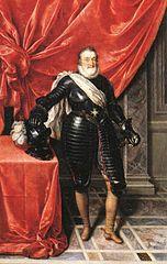 Henri IV, roi de France, en armure