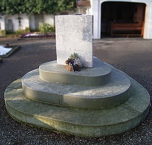 Franz Mesmer - Mesmer's grave in the cemetery in Meersburg, Germany.