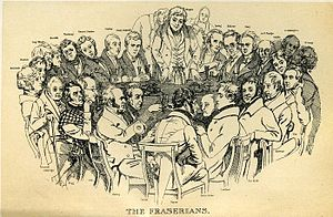 Fraser's Magazine - The Fraserians, 1835 group portrait by Daniel Maclise
