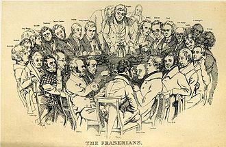 Fraser's Magazine - The Fraserians, 1835 group portrait by Daniel Maclise