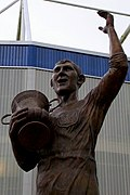 Statue outside Cardiff City Stadium