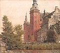 Frederiksborg Slot. Parti ved Møntbroen 1835 by Købke.jpg