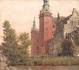 Frederiksborg Castle seen from the Northwest. Study