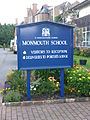 Front Door Sign of Monmouth School.JPG