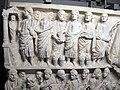 Fronte di sarcofago con scene bibliche, 325-350 ca., da cimitero di s. callisto, resurrezione di lazzaro.JPG