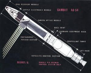 KH-8 Gambit 3 - Schematics of GAMBIT-3 and Agena D