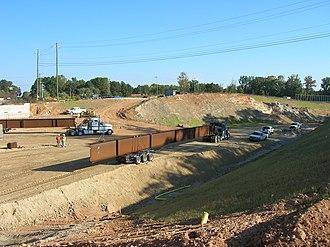 Interstate 840 (North Carolina) - Horsepen Creek Road bridge being constructed in conjunction of the Greensboro Urban Loop
