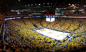 Golden State Warriors play the Utah Jazz in th...