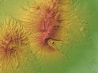 Galunggung - Relief Map