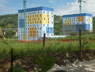 2009 Mediterranean Games - Completed blocks of the village