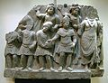 Gandhara, omaggio di un re kushana al bodhisattva, II-III sec.JPG