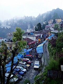 Darjeeling City in West Bengal, India