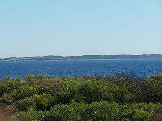 Garden Island (Western Australia) - Garden Island viewed from near the Kwinana Grain Terminal