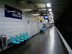 Nanterre-Préfecture Station - Platform for Cergy/Poissy.