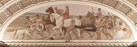 غارى ميلتشيرز، جدارية الحرب، عام 1896.
