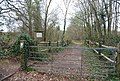 Gate by Dibden Lane at the entrance to Great Britain's Wood - geograph.org.uk - 1255935.jpg