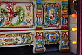 Gavioli & Cie fairground organ - bottom right - carved woodwork & paintwork - Birkenhead Park Festival of Transport 2012.jpg