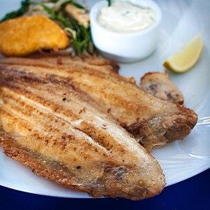 """Common sole - """"Slip"""" fried in   butter is popular in Dutch cuisine"""