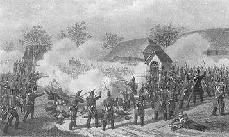 Geltwil - Battle of Geltwil during the Sonderbund war