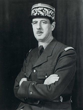 Appeal of 18 June - Portrait photograph of Charles de Gaulle (1945)
