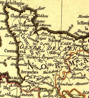 Map of the généralité of Caen