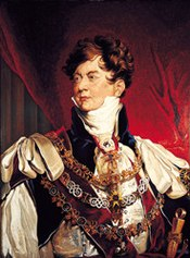George IV (born in 1762), wore an auburn wig for his coronation in 1821 and this official portrait by Sir Thomas Lawrence