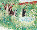 George Topîrceanu - Yard (colored pencil), 1928.jpg