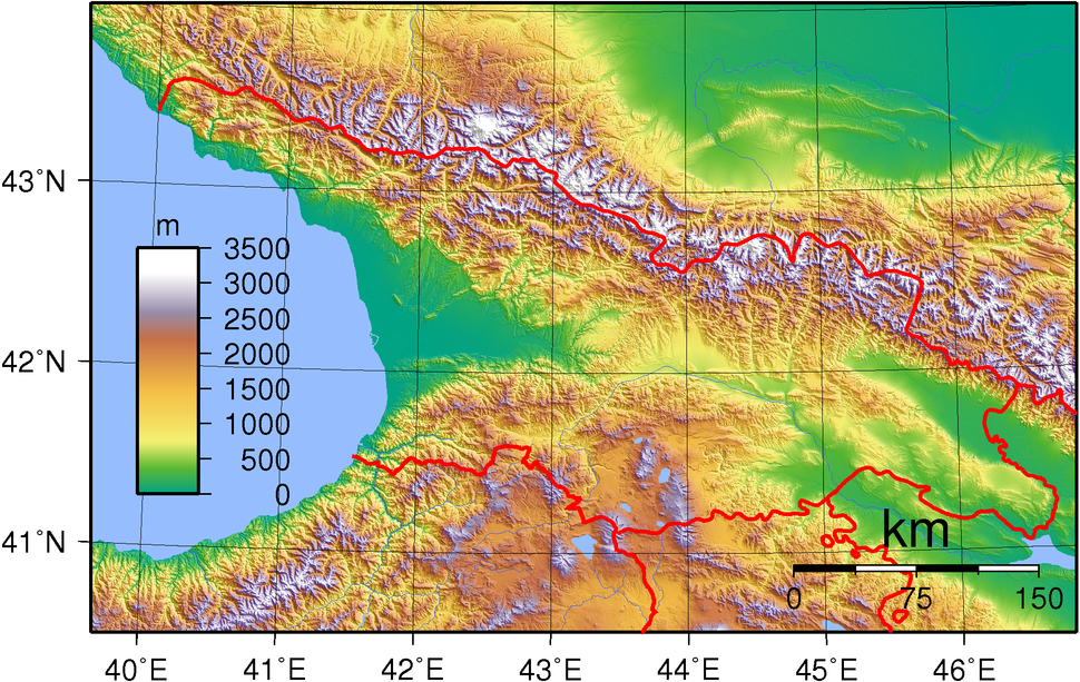 Georgia Topography