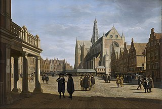View of the Fish Market in Haarlem from the City Hall