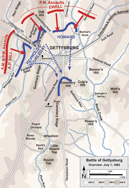 File:Gettysburg Battle Map Day1.png