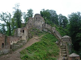 Daylamites - Rudkhan Castle, constructed in Daylam during the Sasanian Empire.