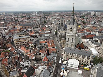 Ghent - Image: Ghent from above b