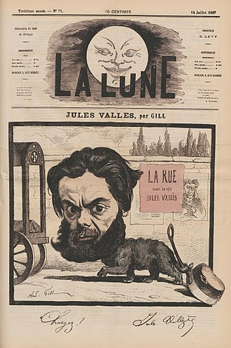 Jules Vallès - Vallès caricatured in 1867 by André Gill.