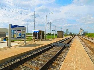 Gilman station - Gilman station in April 2016.