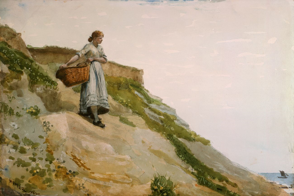 File Girl Carrying A Basket By Winslow Homer 1882 Png