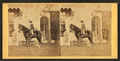 Girl on horseback in front of house, from Robert N. Dennis collection of stereoscopic views.png